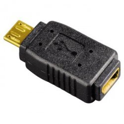 Adapter usb micro b wt - mini usb a gn.
