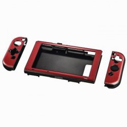 Hama hard cover for nintendo switch, 3-part, metallic red