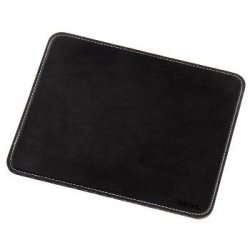 Mouse pad with leather look, black