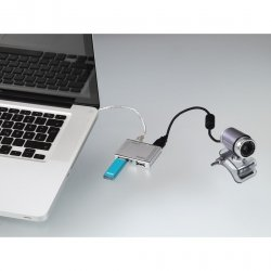 Hama Hub 1:4 USB 2.0 Alu-minisrebrny 784980000