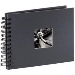 Hama album fine art 24x17/50 szary czarne kartki