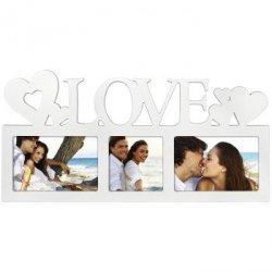 Biała galeria na 3 zdjęcia Montreal z napisem Love