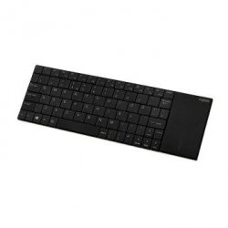 Klawiatura bezprzewodowa e2710 2,4g touchpad e2710 czarna ui