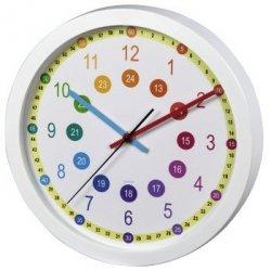 Zegar dziecięcy easy learning, średnica 30 cm, cichy