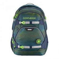 Plecak szkolny e-ScaleRale Soniclights Green, System MatchPatch - Coocazoo