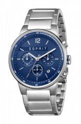 Męski zegarek Esprit ES Equalizer Blue srebrny MB. ES1G025M0075