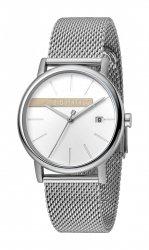 Męski zegarek Esprit ES Timber srebrny Mesh ES1G047M0045