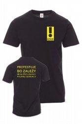 Koszulka z nadrukiem - PROTESTUJE bo zależy mi na przyszłości edukacji - STRAJK