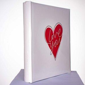 Album 10x15/500 szyty Love biały - Poldom