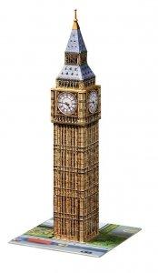 Ravensburger, Big Ben, Puzzle 3D 216 elementów + gratis