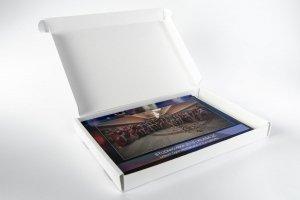 Karton wykrojnikowy ozdobny biały 305x215x30 mm Fefco 427 - Studioix.pl