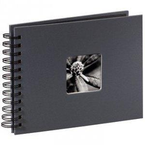 Album 24x17/50 Fine Art Ciemny szary czarne strony - Hama
