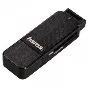 Czytnik kart pamięci SD/MicroSD USB 3.0 czarny - Hama