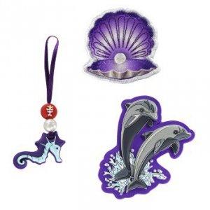 Zestaw elementów wymiennych Magic Mags Happy Dolphins do tornistra Space - Step by Step Hama