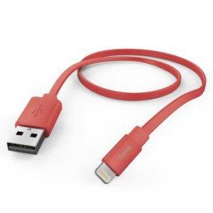 Kabel do ładowania i synchronizacji Flat Lightning 1.2 m różowy - Hama