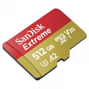 Micro sd 512gb extreme (microsd xc) 160mb/s c10 uhs-i u3, v30, a2 + sd adap