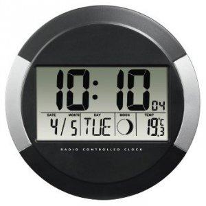 Zegar ścienny elektroniczny DCF PP-245 czarny HAMA