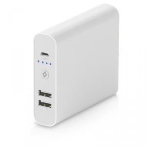TTEC Mega Universal Powerbank 10400mAh 2xUSB biały (2BB108B)