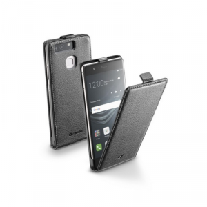 Etui FLAP ESSENTIAL do Huawei P9, czarne, eko-skóra