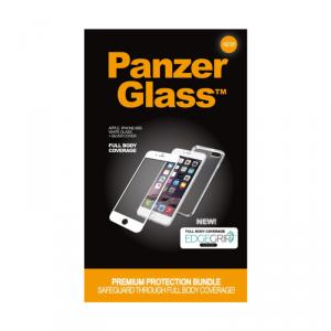 PANZERGLASS Etui srebrne i szkło ochronne białe iPhone 6/6S