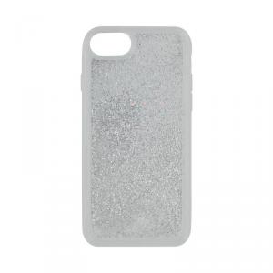Funtastix etui Srebrny Brokat iPhone 7