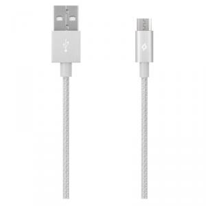 TTEC Kabel aluminiowy micro-USB 1,2m srebrny
