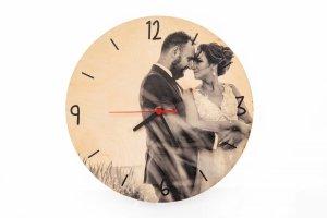 Drewniany zegar z Twoim zdjęciem - Studioix.pl