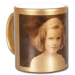 Złoty foto kubek ze zdjęciem