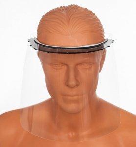 Folia zapasowa do przyłbicy - przyłbica z paskiem elastycznym