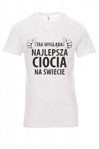 Koszulka biała - znakowanie - tak wygląda najlepsza ciocia na świecie