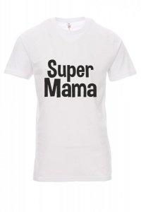 Koszulka biała - znakowanie - super MAMA