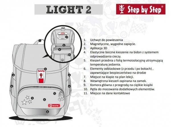 Light Tornister Szkolny Step By Step Light 2 Butterfly Dancer