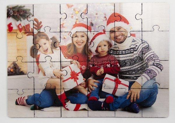 Puzzle drewniane 15x20 cm 24 elementy z Twoim nadrukiem - Studioix.pl