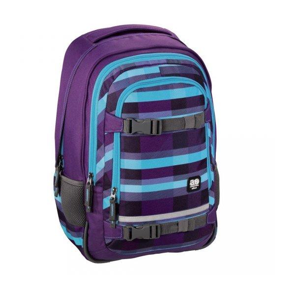 Plecak-szkolny-Selby-Summer-Check-Purple-All-Out-Hama