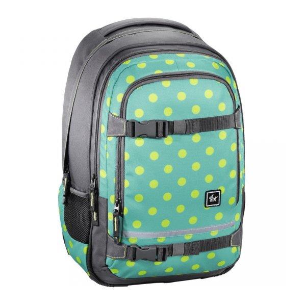 Plecak-szkolny-Selby-Mint-Dots-All-Out-Hama