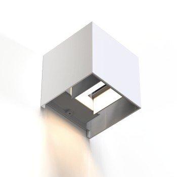 Kinkiet wifi kwadratowy, 10 cm, ip 44 do wnĘtrz i na zewnĄtrz, biaŁy