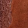 Kožená Kabelka listonoška Vittoria Gotti motiv aligátorů Hnědá