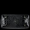 Elegantní Lakovaná Kožená Kabelka Kufřík s motivem aligátora Vittoria Gotti Made in Italy Černá