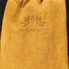 Vittoria Gotti Włoska Torebka Skórzana Shopper Bag w stylu Boho Jasno Ruda
