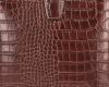 Eleganckie Torebki Skórzane Listonoszki firmy Vittoria Gotti w motyw Aligatora Brązowa