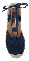 Granatowe sandały damskie espadryle na platformie firmy Bellicy