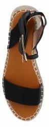 Czarne sandały damskie espadryle na platformie firmy Lady Glory