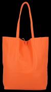 Torebki Skórzane VITTORIA GOTTI Modny Shopperbag z Etui Pomarańczowa