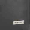 Uniwersalna Torebka Skórzana Firmowy Shopper Vittoria Gotti w rozmiarze XL Szara