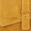 Uniwersalna Torebka Skórzana Listonoszka firmy Vittoria Gotti na każdą okazję Musztarda