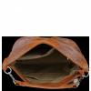 Firmowa Torba Skórzana Vittoria Gotti Made in Italy w rozmiarze XL motyw Aligatora Ruda