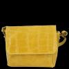 Vittoria Gotti Włoskie Torebki Damskie Listonoszki Skórzane w modny motyw żółwia Żółta