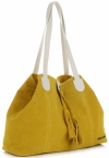 Torebka Skórzana marki Vittoria Gotti Modny Shopper Made in Italy Żółta