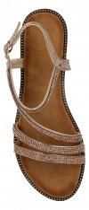 Szmpańskie eleganckie sandały damskie z kryształkami firmy Bellucci