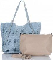 Univerzální Dámské kabelky s kosmetikou David Jones ažurová Modrá